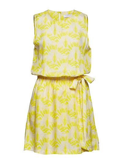 Dress w. travellers palmtree print - TRAVELLERS PALMTREE PINEAPPLE