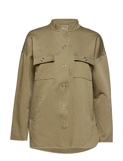 Jacket w. ruffle on back - OLIVE GREEN