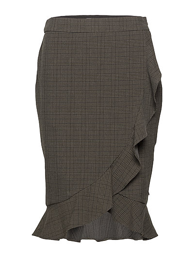 Coster Copenhagen Skirt in checks w ruffle