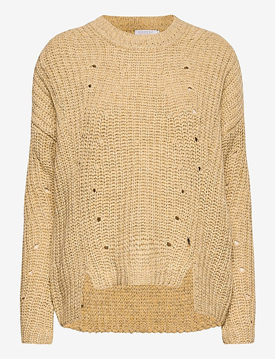 Knit in recycled polyester - sweaters - light yellow