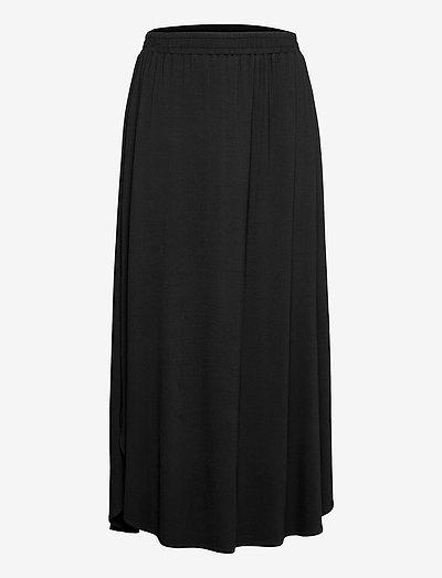 Jersey skirt - midinederdele - black