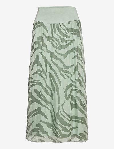 Long skirt with jersey waistband - maxi nederdele - safari print