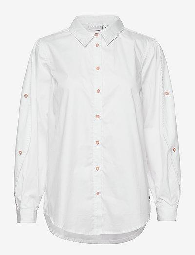 Shirt with wide sleeves - langærmede skjorter - white