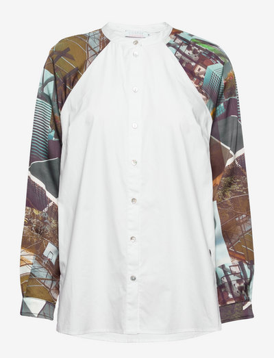 Shirt in urban collage print - chemises à manches longues - urban collage print