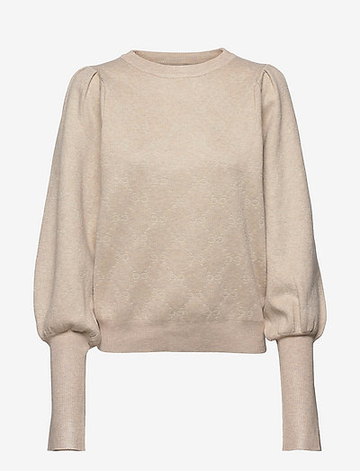 Sweater with cc jacquard - pulls - cream