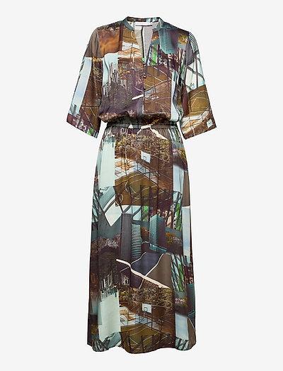 Dress in urban collage print - robes de jour - urban collage print