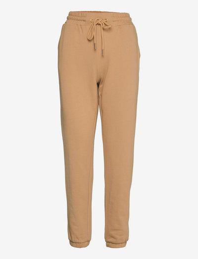 CC Heart sweat pants - Organic Cott - tøj - camel