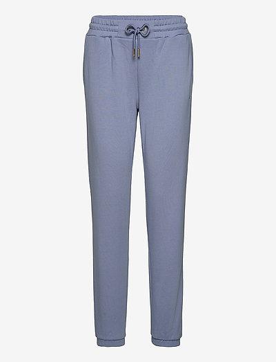 CC Heart sweat pants - Organic Cott - tøj - dusty blue