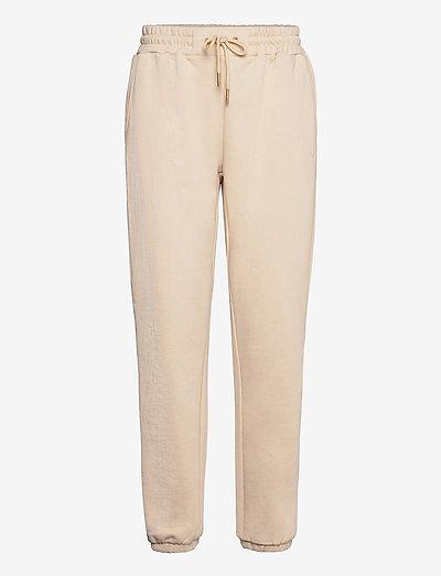 CC Heart sweat pants - Organic Cott - tøj - vanilla