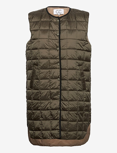 CC Heart long quilted vest - vestes rembourrées - army green