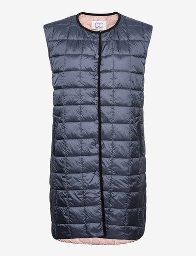 CC Heart long quilted vest - vestes rembourrées - storm blue