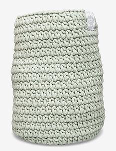Cozy by Dozy Crochet Basket - decor - green