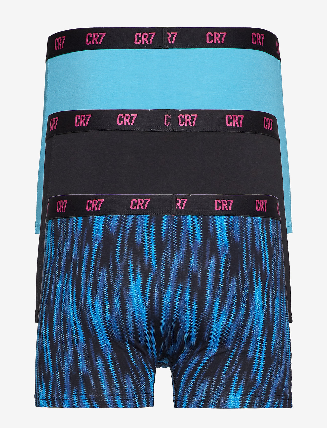 CR7 - CR7 Basic w AOP, Trunk, 3-pack - underwear - mix