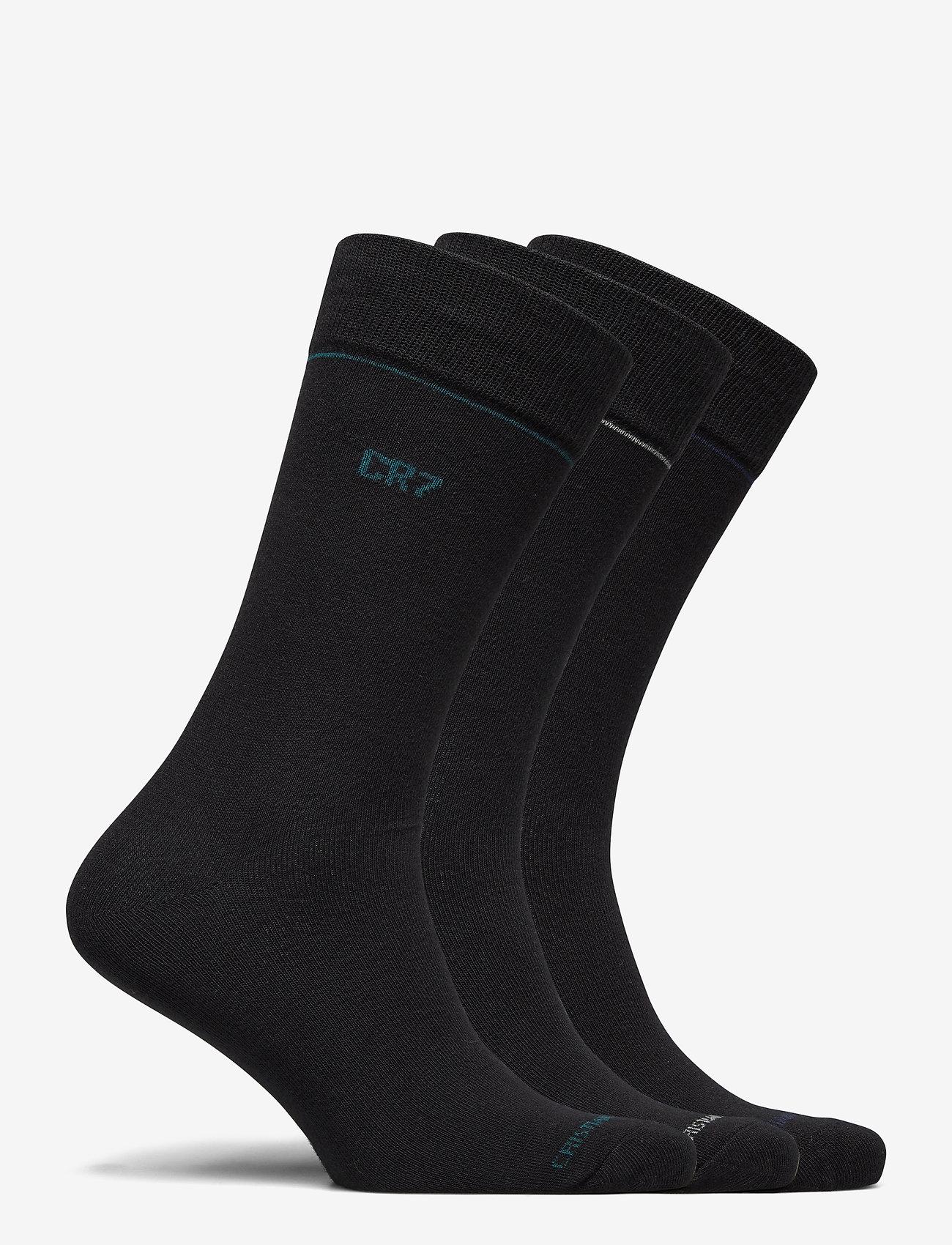 CR7 - CR7 Mens socks 3-pack - chaussettes régulières - svart - 1