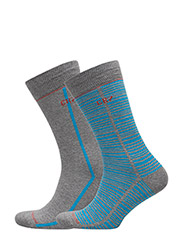 CR7 Fashion socks 2-pack - GREY, BLUE