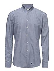 CR7 shirt Slim fit high collar - BLUE STRIB