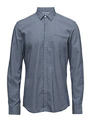 CR7 shirt Slim fit - BLUE STRIB
