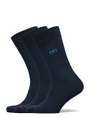 CR7 socks 3-pack - DARK BLUE