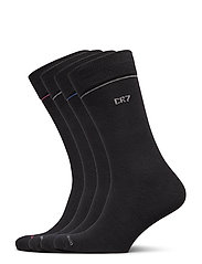 CR7 4-pack socks giftbox - BLACK PLAI