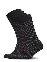 CR7 4-pack socks giftbox - STRIPES BL