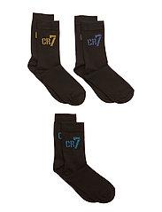 CR7 Kids socks 3-pack - CR7 BLACK