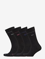 CR7 - CR7 4-pack socks giftbox - chaussettes régulières - black cr7 - 0