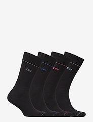 CR7 - CR7 4-pack socks giftbox - chaussettes régulières - black cr7 - 1