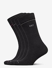 CR7 - CR7 4-pack socks giftbox - chaussettes régulières - black plai - 0