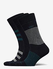 CR7 - CR7 Mens socks 3-pack - chaussettes régulières - flerfärgad - 0
