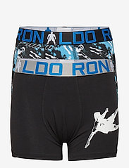CR7 - CR7 Boy's Trunk 2-pack - shorts et pantalons - black/aop - 0