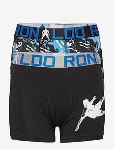 CR7 Boy's Trunk 2-pack - BLACK/AOP