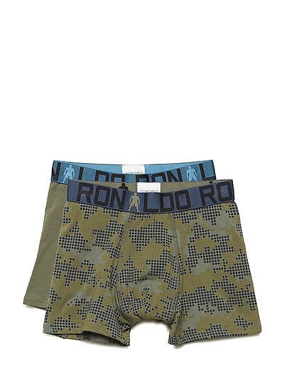 CR7 Boy's Trunk 2-pack - OLIVE/AOP