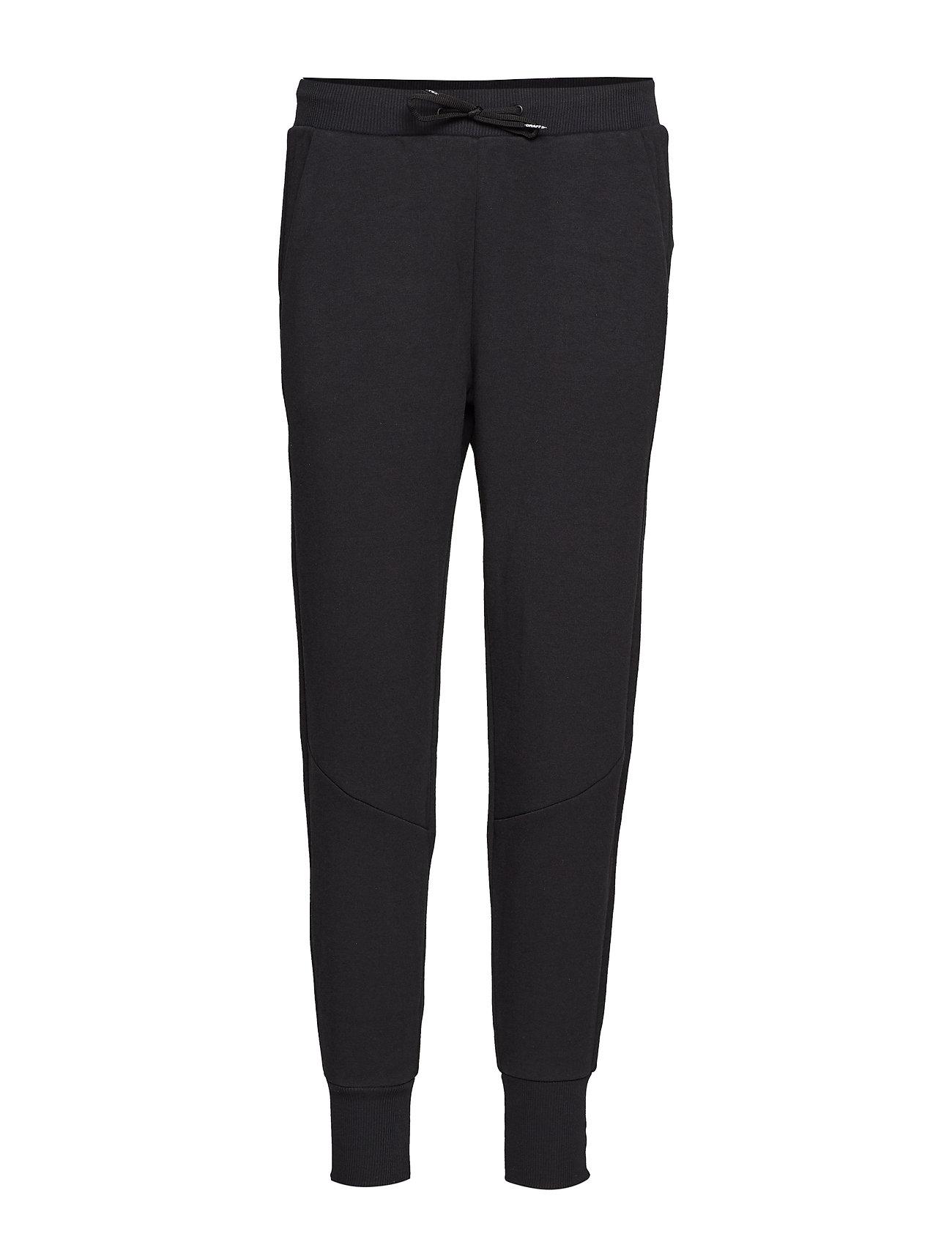 Craft District crotch sweat pants W - BLACK