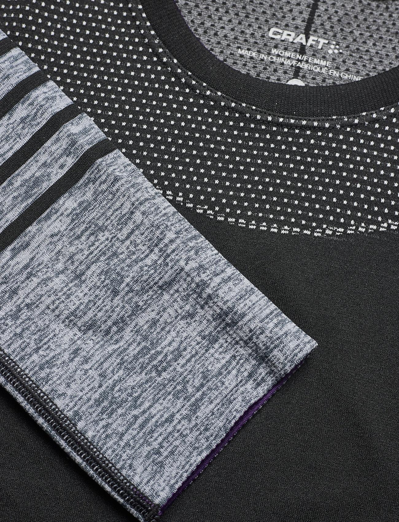 Craft - FUSEKNIT COMFORT BLOCKED RN LS W - thermo ondershirts - black-logan - 1