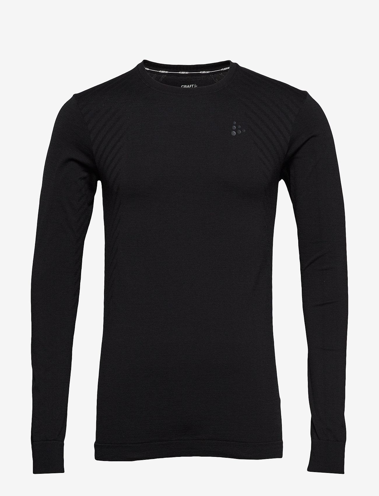 Craft - FUSEKNIT COMFORT RN LS  - langarmshirts - black - 0