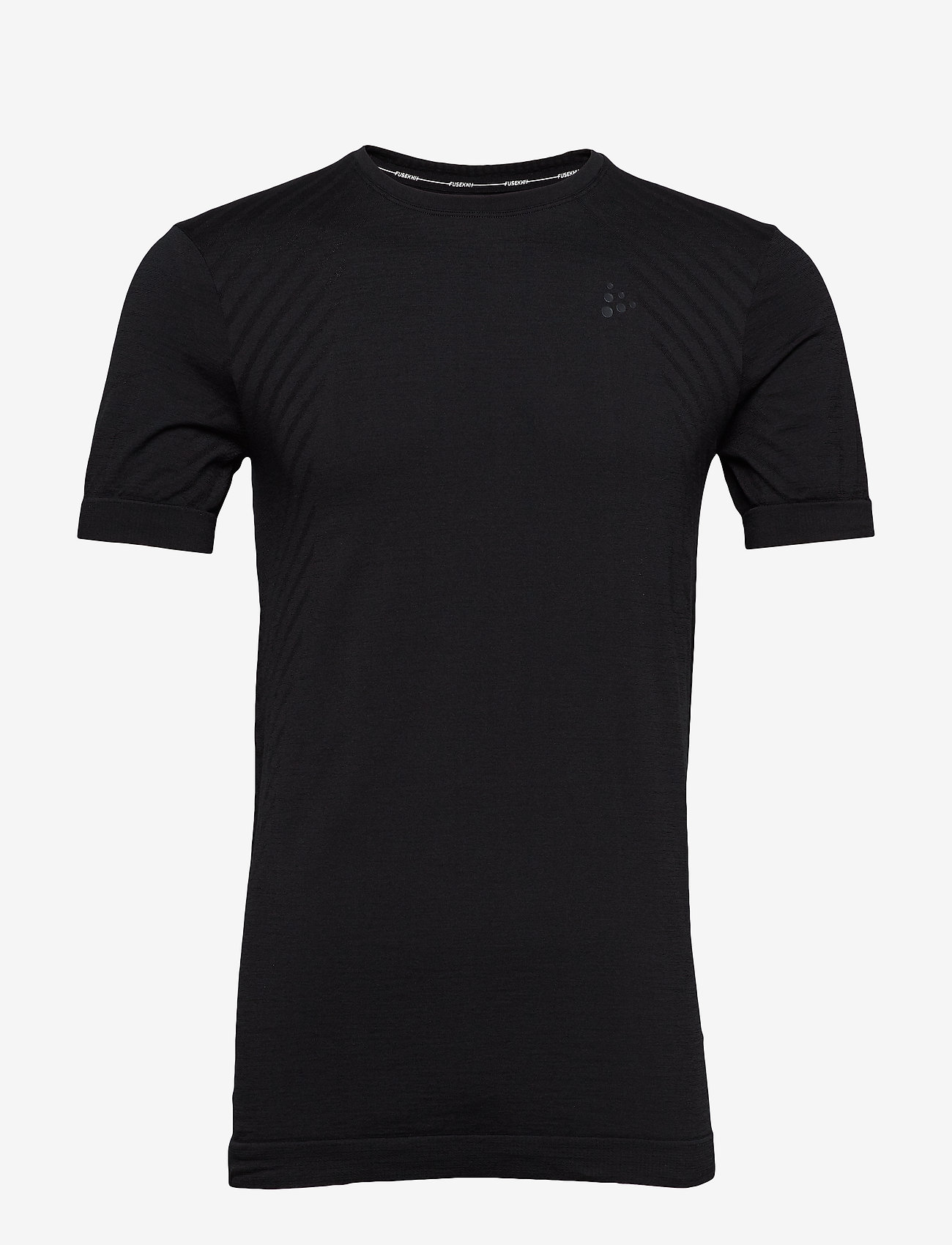 Craft - FUSEKNIT COMFORT RN SS  - t-shirts - black - 0