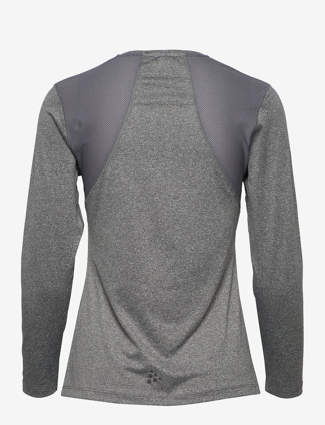 Craft - ADV ESSENCE LS TEE W - bluzki z długim rękawem - dk grey melange - 1