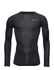 CRAFT COMPRESSION LS SHIRT M BLACK  - BLACK/BLACK