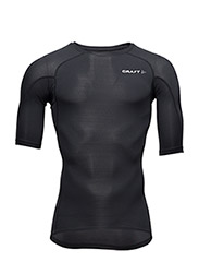 CRAFT DELTA COMPRESSION SS SHIRT M BLACK  - BLACK/BLACK