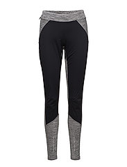 CRAFT COVER WIND TIGHTS W SPACE  - DK GREY MELANGE/BLACK
