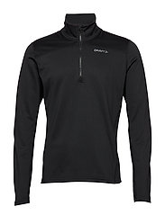 PIN HALFZIP Men - BLACK
