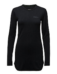ACTIVE COMFORT DRESS W BLACK  - BLACK SOLID