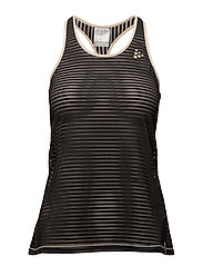 VIBE MESH TANK TANK TOP  - BLACK/CHAMP