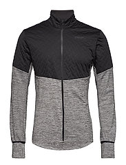 URBAN RUN THERMAL WIND JKT  - DK GREY MELANGE/BLACK