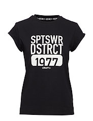 District clean tee W - BLACK