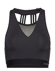 CHARGE CROPPED SINGLET W - BLACK