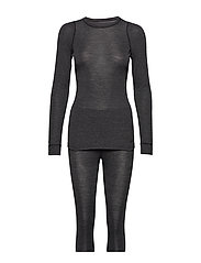 MERINO 180 SET W - BLACK MELANGE