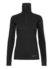 MERINO 240 ZIP W - BLACK