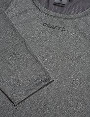 Craft - ADV ESSENCE LS TEE M - langarmshirts - dk grey melange - 4