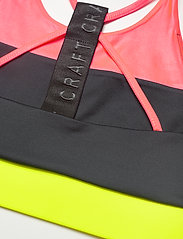 Craft - ASOME STRAP TOP - soft bras - panic/black - 3